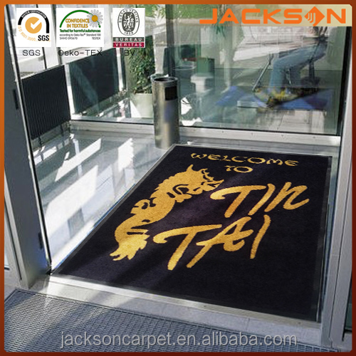Customized Print New Designer Front Indoor Entry Shoe Cleaning Rubber Large Door Mat