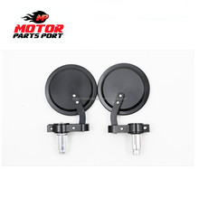 Round universal cnc motorcycle bar end mirrors