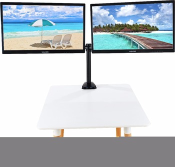 Full Fotation 360 Degrees Lift Engine Premium Aluminum LCD Dual Monitor Stand of Arm Mount