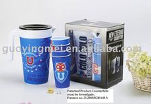 3D plastic water pitcher set with color box