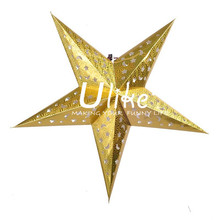 Xmas Day Decoration Hanging Folding Decorations Paper Five-pointed Star/Star Of party decoration