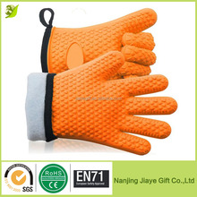 Silicone Heat Resistant Kitchen Insulated Gloves With Cotton Lining