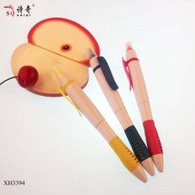 Logo Printed double Tips Plastic dual ball point highlighter pen,ball pen factory