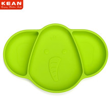 High Quality Elepant Shape Non-Toxic FDA Silicone Dinner Plate Set