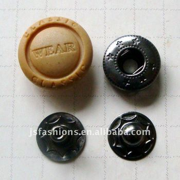 plastic head spring snap button
