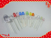8mm diode round red green yellow led for traffic sign/Sombrero de paja blanco de 5mm de LED