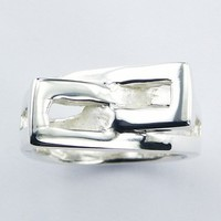 Finely Interlocked Open Bands Trendy Sterling Silver Design