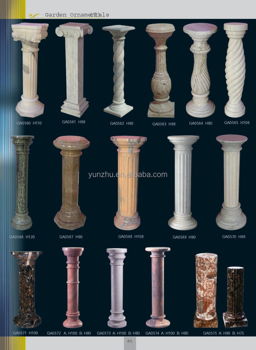 Home decorative stone carved greek columns for interior - Columnas decorativas interiores ...
