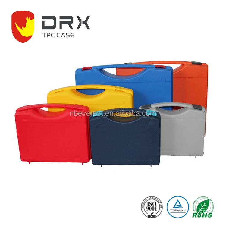 high impact pp Simple handle electrical Plastic tool box hard plastic carrying cases