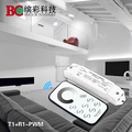 Bincolor T1+R1-PWM10V signal dimmer with touch remote PWM10V led signal dimmer