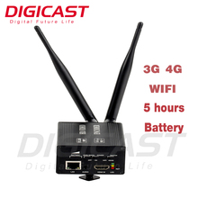 (DMB-8800A)Built-in Battery 3G 4G LET SIM Card WIFI HDMI Streaming Encoder for Live Video audio Capture and Transmission