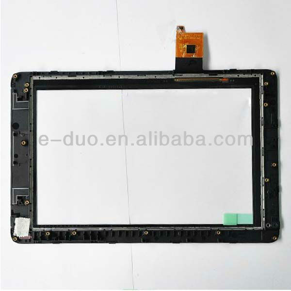 "Original new digitizer for 7"" inch Mediapad S7-301u Tablet PC touch digitizer screen front glass lens replacement with frame"