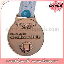 Manufacture metal stand blank awards sport wholesale gold silver brass marathon running souvenir medals and trophies