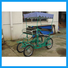 4 wheel 2 seater roadster bike with baby seat