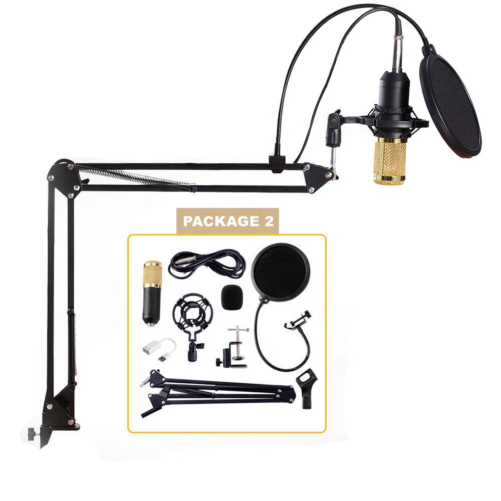 Bm800 microphone à condensateur professionnel filaire avec Support Antichoc micro de studio kit pour karaoké - ANKUX Tech Co., Ltd