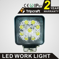 IP67 waterproof rate 12V 24V 27w led work light for auto lighting system