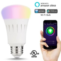 Smart Led Bulb, Wifi Light Multicolored Led Bulbs Dimmable Smartphone Controlled Daylight Smart Light Bulb