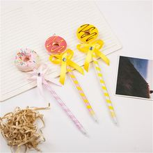 Top grade special design doughnut feather pen directly sale