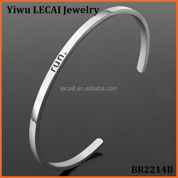 Personalized OR Blank stainless steel Message bangle