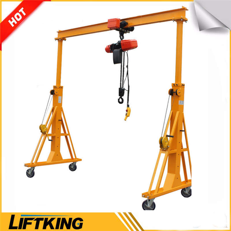 LIFTKING 1Ton to 10 Ton High Efficient Mobile Gantry Crane with Cable Roller for Sale