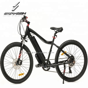 Aluminum frame cheap electric bicycle for sales strong ebike electric mountain bike mechanical disc brake 7 speed derailleur