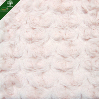 New Wholesale Autumn And Winter Shaggy Short Pile By Yard Polyester Pink Roll Sheep Fur Velvet Fabric