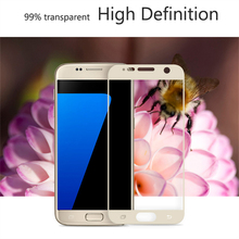 2016 High Quality Ultra Thin Liquid Galaxy S7 Edge Screen Glass Protector Film Roll Tempered