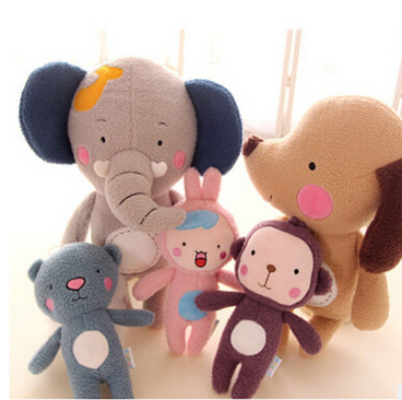 Korean cartoon elephant plush toy stuffed doll gifts for children of forest animal