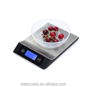2018 Household Waterproof Digital Kitchen Scale 5 10 15kg Big Food Diet Weight Balance Slim Stainless Steel Electronic Scales