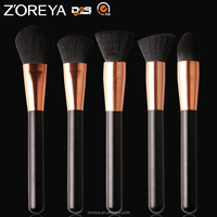 9 pcs Red Bag New Design Wholesale Zoreya oval makeup brush set
