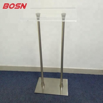 Modern Acrylic Podium Stainless Steel Poles Podium For Sale