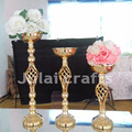 Chinese tall metal flower vase in gold/silver for the wedding and party centerpiece decoration