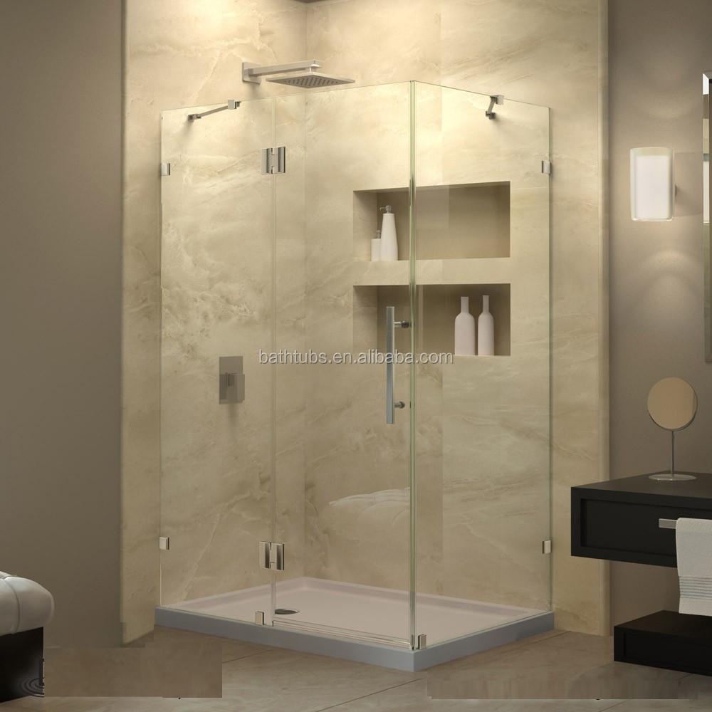North american market fully frameless glass shower unit for Discount frameless shower doors