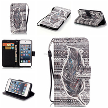 leather mobile phone case, phone cover for ipod touch 4 , for ipod touch 4 case