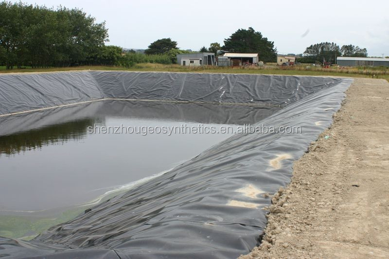 black color waterproof hdpe geomembrane fish pond liner