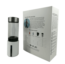 hot-selling rechargeable hydrogen rich water maker bottle with 350ml glass bottle