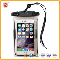 Hot Selling Promotional Custom Diving Pvc Waterproof Bag Phone For Mobile With With Lanyard Custom