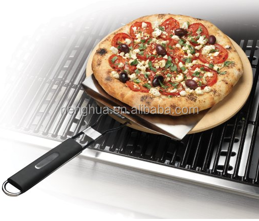 microwave wood handle stone fire pizza oven