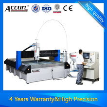 double heads cnc waterjet cutting machine for glass and iron