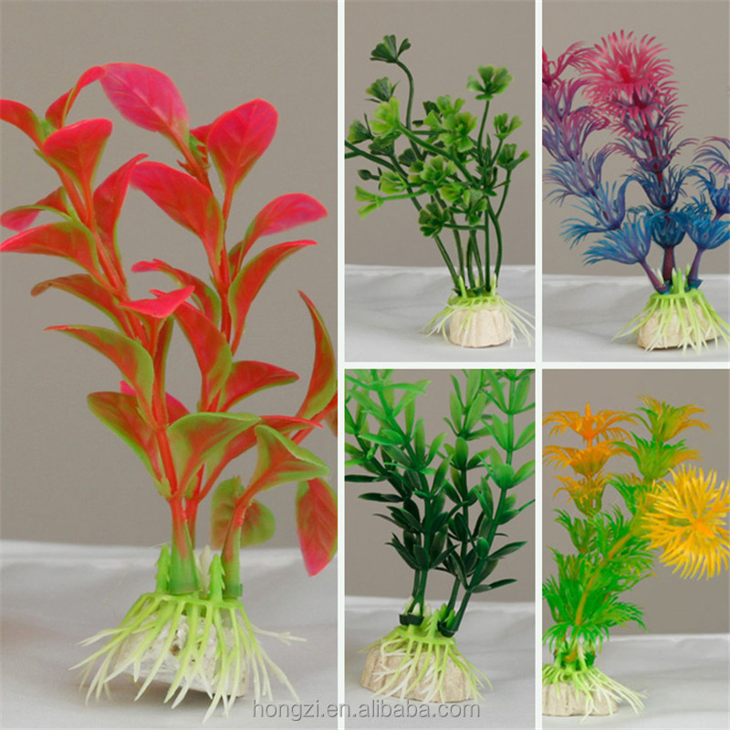 New Plastic Cute Artificial Green Colorful Underwater Plant Fish Tank Aquarium Decoration Oranment Decor Plant