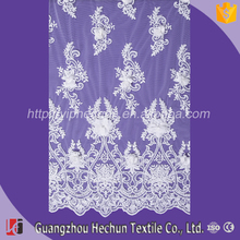 HC-1648 Hechun Sew Fancy White Beaded Flower African Embroidery French Lace Fabric