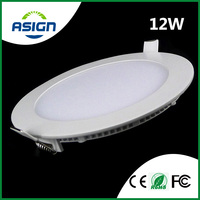 Ultra Thin LED Downlight 12w Round LED Panel Light AC85-265V LED Ceiling Recessed Light CE ROHS Warm/Cool White Include Drivers
