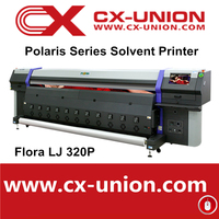 High Speed Flora plotter printer LJ320P digital advertising flex banner printing machine with polaris head