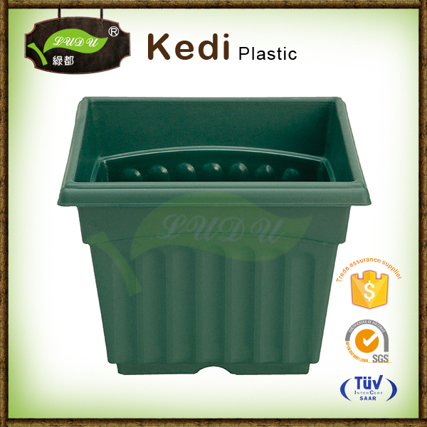 Save 10% square plastic 100% recycled plastic hexagonal garden containers square flower pot wholesale