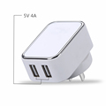 TUV CB report 20W 5v 4000ma Micro double 2 USB Travel EU Charger