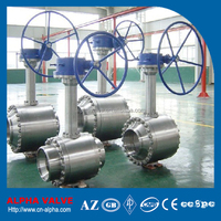 API6D Standard BW Trunnion Mounted Ball Valve With Long Stem Extension
