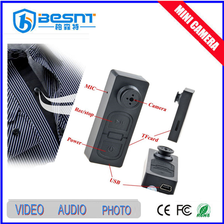 Very very small mini hidden camera shirt button hole mini hidden camera p2p wifi ip camera remote control BS-791