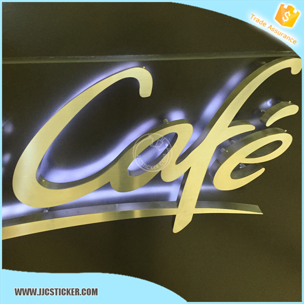 Outdoor waterproof back lit LED stainless steel outdoor signage,3D advertising signage,high quality led signage