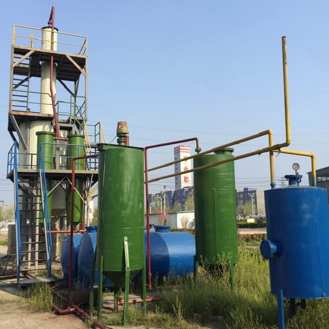 More than 85% oil yield Used black Oil Recycling Machine to diesel