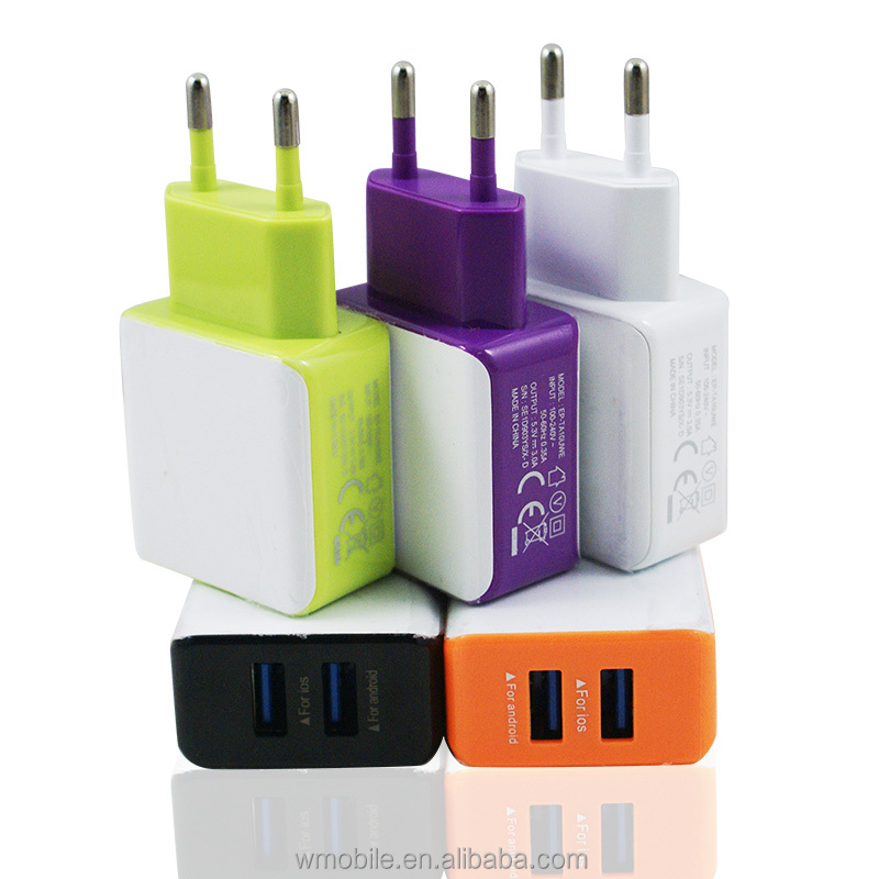 2016 Newest Electronics Accessories EU Micro USB Wall Plug Travel Home Charger for Smart Phone